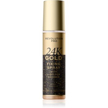 Revolution PRO 24k Gold spray pentru fixare și strălucire cu aur