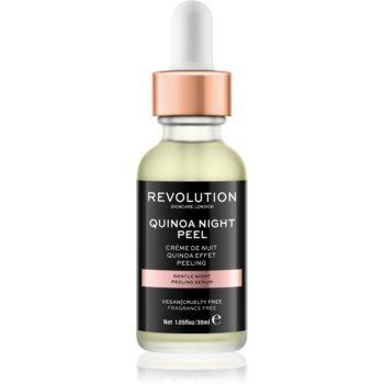 Revolution Skincare Quinoa Night Peel serum cu textură de peeling pentru noapte
