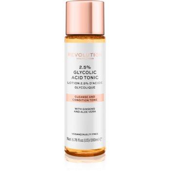 Revolution Skincare Glycolic Acid 2,5% tonic cu acid glicolic poza noua