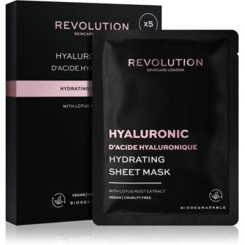 Revolution Skincare Hyaluronic Acid set de măști textile pentru hidratare intensa poza noua