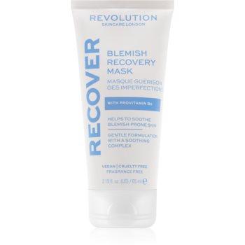 Revolution Skincare Blemish Recover mască de noapte pentru reînnoirea pielii pentru ten acneic