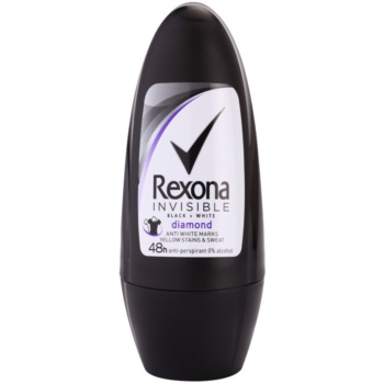 Rexona Invisible Black + White Diamond antyperspirant roll-on