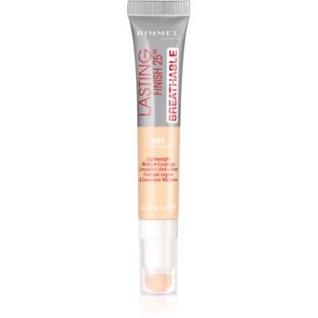 Rimmel Lasting Finish 25H Breathable anticearcan cu efect de lunga durata culoare 001 Light Ivory 7 ml