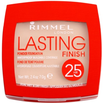 Fotografie Rimmel Ultra lehký pudr Lasting Finish 25hr (Powder Foundation) 7 g 003 Soft Beige