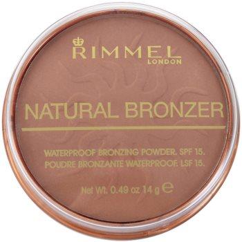 Rimmel Natural Bronzer водоустойчива бронзираща пудра SPF 15