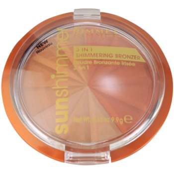 Rimmel Sun Shimmer 3 in 1 Shimmering Bonzer pó bronzeador cintilante 1