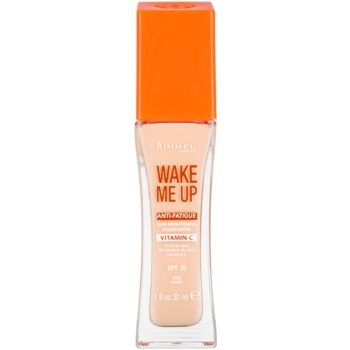Fotografie Rimmel Wake Me Up rozjasňující tekutý make-up SPF 20 odstín 100 Ivory 30 ml