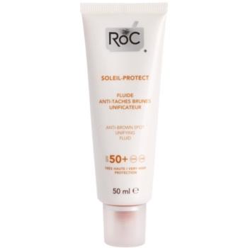 RoC Soleil Protect легкий захисний флюїд проти пігментних плям SPF 50+