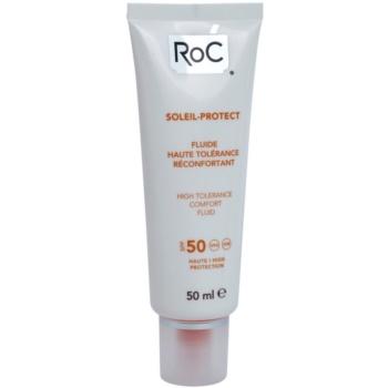RoC Soleil Protect fluid pentru protectie pentru piele foarte sensibila SPF 50  50 ml