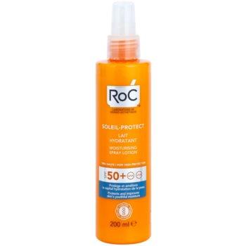 RoC Soleil Protect lotiune hidratanta pentru protectie cu pulverizator SPF 50+  200 ml