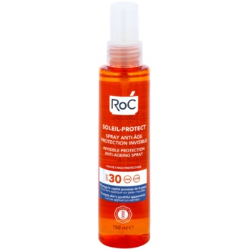 RoC Soleil Protect ochronny spray transparentny przeciwko starzeniu się skóry SPF 30