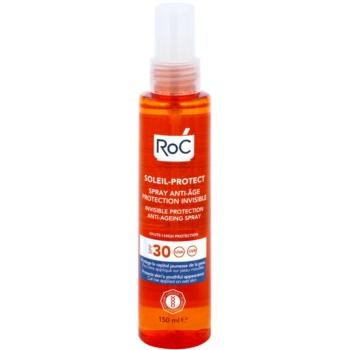 RoC Soleil Protect spray de protecție transparent împotriva îmbătrânirii pielii SPF 30