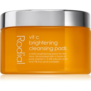 Rodial Vit C Brightening Cleansing Pads dischete demachiante cu vitamina C