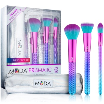 Royal and Langnickel Moda Prismatic Base Face set de pensule cu husă pentru femei