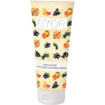 RYOR Face & Body Care cremă pentru mâini cu aromă de grepfrut și coacăze