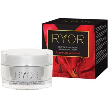RYOR Argan Care With Gold noční krém se zlatem a arganovým olejem 50 ml