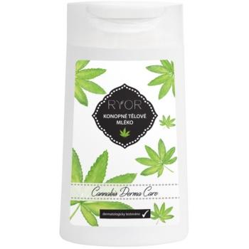 RYOR Cannabis Derma Care loțiune corporală cu cânepă pentru piele foarte sensibilă, predispusă la iritație și roșeață  200 ml