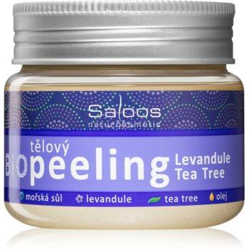 Saloos Bio Peeling exfoliant corporal cu lavandă și arbore de ceai poza noua