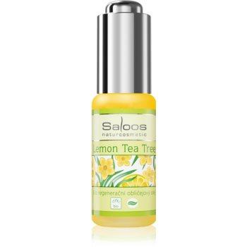 Saloos Bio Regenerative Lemon Tea Tree ulei bio pentru față, cu efect de regenerare poza noua