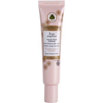 Sanoflore Rosa Angelica crema hidratanta cu efect iluminator pentru ten normal spre uscat