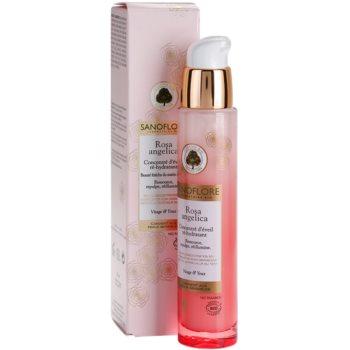Sanoflore Rosa Angelica озаряващ хидратиращ серум за лице и очи 2