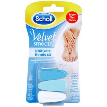 Scholl Velvet Smooth Cap de rezervă pentru pilă de unghii electrica 3 pc