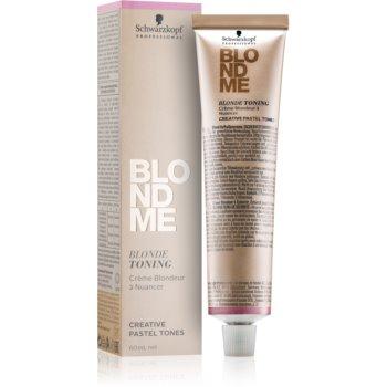 Schwarzkopf Professional Blondme crema tonifianta pentru par blond poza noua
