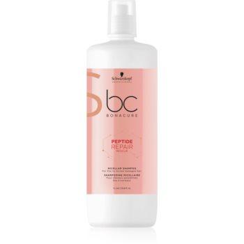 Schwarzkopf Professional BC Bonacure Peptide Repair Rescue micelární šampon pro poškozené vlasy 1000 ml