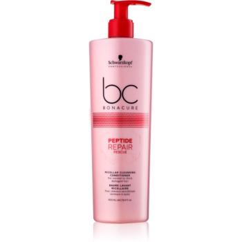 Schwarzkopf Professional BC Bonacure Peptide Repair Rescue micelární čisticí kondicionér pro poškozené vlasy 500 ml