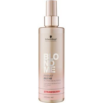 Schwarzkopf Professional Blondme barva ve spreji pro blond vlasy odstín Strawberry 250 ml