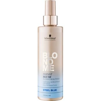 Schwarzkopf Professional Blondme tónovací sprej pro blond vlasy odstín Steel Blue 250 ml
