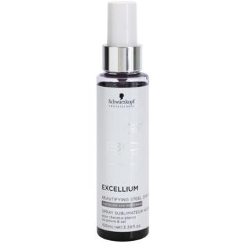 Schwarzkopf Professional BC Bonacure Excellium Beautifying prin pulverizare cu pigmenti de otel pentru recuperarea si rafinarea culorii parului alb si gri