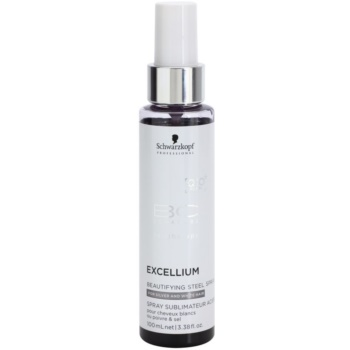 Image of Schwarzkopf Professional BC Bonacure Excellium Beautifying Steel Pigment Spray for White and Silver Hair 100 ml