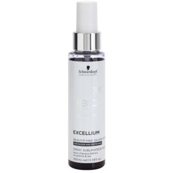 Schwarzkopf Professional BC Bonacure Excellium Beautifying spray cu pigmenti de argint pentru a revitaliza si a inmuia culorile de par alb si gri