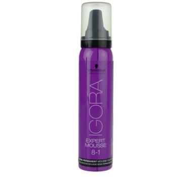Fotografie Schwarzkopf Professional IGORA Expert Mousse barvicí pěna na vlasy odstín 8-1 Light Blonde Cendré 100 ml