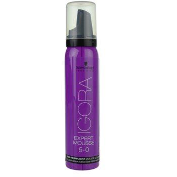 Fotografie Schwarzkopf Professional IGORA Expert Mousse barvicí pěna na vlasy odstín 5-0 Light Brown 100 ml
