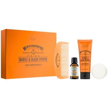 Scottish Fine Soaps Men's Grooming Thistle & Black Pepper set cosmetice II.