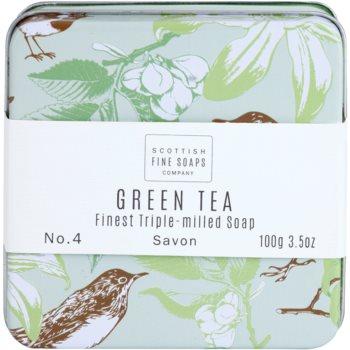 Scottish Fine Soaps Green Tea luksuzno milo v kovinasti škatli 2