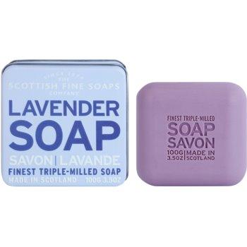 Scottish Fine Soaps Lavender luxusní mýdlo v plechové dóze