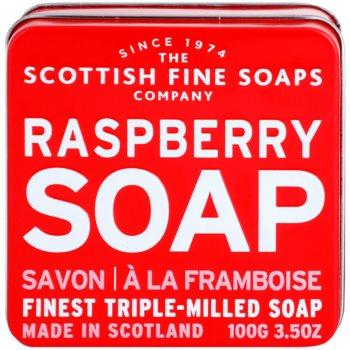 Scottish Fine Soaps Raspberry Pозкішне мило в металевій коробочці 2