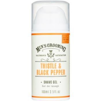 Scottish Fine Soaps Men's Grooming Thistle & Black Pepper gel de ras  100 ml