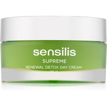 Sensilis Supreme Renewal Detox cremă de zi pentru detoxifiere și regenerare SPF 15