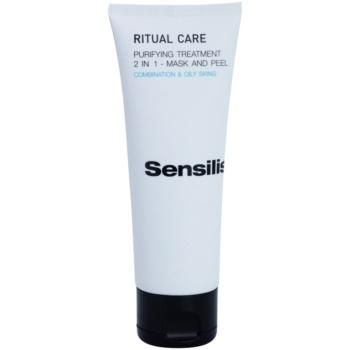 Sensilis Ritual Care masca e curatare si peeling 2 in 1
