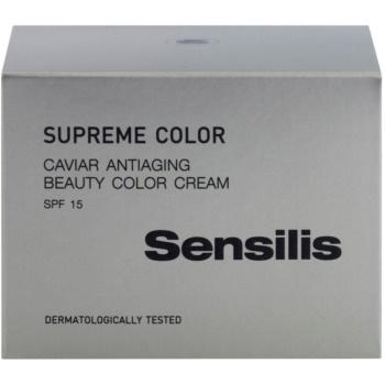 Sensilis Supreme Color creme tonificante para rugas para uma pele uniforme SPF 15 3