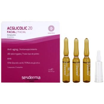 Sesderma Acglicolic 20 Facial ser pentru contur cu efect exfoliant  5 x 2 ml