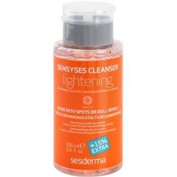 Sesderma Sensyses Cleanser Lightening лосион за почистване на фон дьо тен за кожа с хиперпигментация