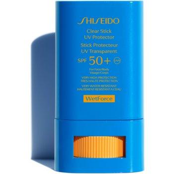 Shiseido Sun Care Clear Stick UV Protector WetForce baton cu protectie solara SPF 50+