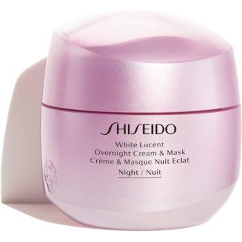 Shiseido White Lucent Overnight Cream & Mask mască și cremă de noapte hidratantă impotriva petelor