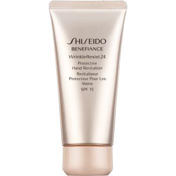 Shiseido Benefiance WrinkleResist24 Protective Hand Revitalizer cremă de mâini pentru protecție și regenerare SPF 15