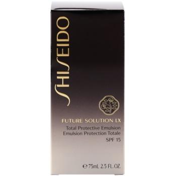 Shiseido Future Solution LX ochranná denní emulze SPF 15 4
